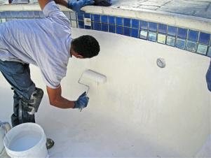 Hard coat cement colored stucco pool or deck reno for Icf pool construction